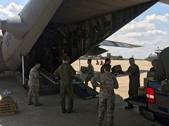 Illinois National Guard (The National Guard) Tags: illinois il ilng c130 supplies load relief crews ng nationalguard national guard guardsman guardsmen soldier soldiers airmen airman us army air force united states america usa military troops 2017 hurricane response emergency disaster transported mission pallets irma prepare hercules departure aircraft aircrew crew