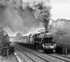 44932 at Barber Booth near Edale. (johncheckley) Tags: uksteam black5 smoke passengertrain
