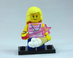 Brick Yourself Custom Lego Figure Girl with Fairy Wand and Ice Cream