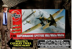 Tweed Background 24th Spitfire (The General Was Here !!!) Tags: tweed cap flat jacket harris ww2 war 1940s 40s 1939 1940 1941 1942 1943 1944 1945 plane kit airfix british battleofbritain raf flying spitfire aircraft model plastic mk1 mk1a mk2a 148 scale cavalrytwilltrousers wool 100 oldschool clothing clothes retro fashion menswear