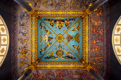 Always look up (ajecaldwell11) Tags: lights laos ceiling symmetry kalaidescope monument buildings mirror architecture patuxai fujifilm xe2 caldwell ankh