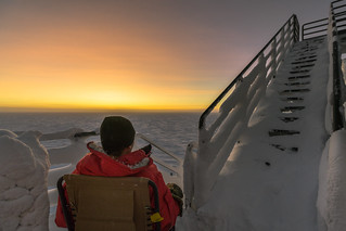 Waiting for Sunrise at South Pole