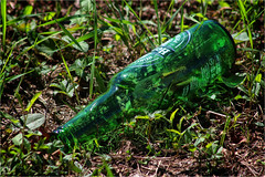 Green bottle (annovi.frizio) Tags: green bottle glass beer color colours chrome drink grass