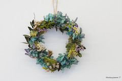 Autumn Wreath (bluehazyjunem) Tags: autumn wreath bordeaux colors stilllife