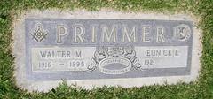 Gravestone - Walter McOreson Primmer