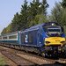 68028 passes Whitlingham Junction working 2J70 1005 Norwich - Lowestoft 1/9/2017