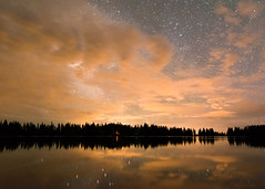 (Jotoochill) Tags: colorado reflection clouds colorful lake sky stars night nighttime starrynight hiking silhouettes water trees landscape nature naturephotography