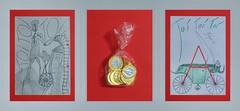 Premiere Presents for Colleagues Einen Moment um Fotos zu machen vorm Einpacken in den Rucksack: Zeichnung nicht direkt aus dem Soufflierbuch aber während Proben, bzw. während der Kritik / Schoko zwar Euro statt Dukaten aber Gold / Fiaker nicht Viehacker (hedbavny) Tags: nestroy höllenangst premiere geschenk present münze schokolade euro gold fiaker fuhrwerk droschke kutsche wagen aussprache betonung pronounciation schriftbild glückwunsch red rot green grün weis white schwarz black transparent falte zerknittert schatten shadow licht light lampe scheinwerfer kreis circle doll puppe hampelmann vogelscheuche schnitt cut kopierrädchen leiter ladder strickleiter herz heart wasser water sea meer himmel sky zeichnung drawing sketch skizze theater theatre arbeit work profession handwerk handschrift schrift hedbavny ingridhedbavny wien vienna austria österreich