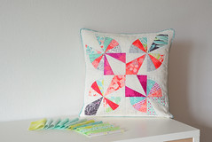 Kaleidoscope Star Butterfly Pillow (easypatchwork) Tags: cushion pillow swap quilted 16 instagram butterfly kaleidoscope