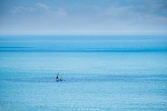 Holiday Blues (Sarah_Brooks) Tags: landscape seascape minimal blue boat sail beach ocean sky sea sailing summer pembrokshire