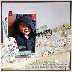 Happy Boy (girl231t) Tags: scrapbook 12x12layout paper 2017 layout rsg rsg2 sketchbased sketch3