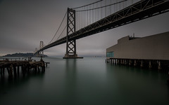 Bay Bridge Before Dusk with 10-Stop ND Filter (Jemlnlx) Tags: canon eos 5d mark iv 4 5div 5d4 san francisco ca california ef 1635mm f4 is usm l bay bridge rincon park point tripod gitzo long exposure water reflection gnd nd graduated neutral density filter filters stacked bw 30 10stop tiffen