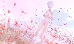 Bound to Nature (Taylor Wassep) Tags: secondlife shag moonamore romp bound ribbon ancltd pink garden outside butterfly mesh taylorwassep