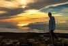 In the clouds (Margarita Genkova) Tags: haleakala maui hawaii cluds high man rocks sun sunset ocean land nature landscape explore
