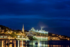 19.08.2017. A Caribbean night. (eronan) Tags: cobh corkharbour liner ship cruiseship night reflections cathedral