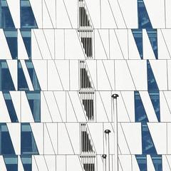 Flagship (Arni J.M.) Tags: architecture building windows flagship hotel vents lines quadrilateral flagpoles bellaskyhotel marriott 3xnarchitects ørestad copenhagen denmark