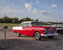 We Went to the Drive In Movie - No. 4 (A Anderson Photography, over 2.1 million views) Tags: chevy chevybelair canon redwhite