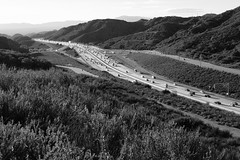 View of the 210 Freeway (lightmagic) Tags: freeway blackandwhite bw landscape citylandscape