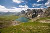 Twin glacial lakes (FROZEN ! !) Tags: landscape kashmir blue snow glacier lake mountain valley travel sky trek hike