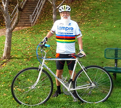 Today's Ride - Aug 13 2017 (Reid2008) Tags: peugeot kenwoodpark bicycle bicyclefriendly lampre merida rainbowjersey worldchampionshipjersey
