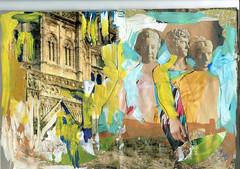 LENGUAJES DEL ARTE (GARGABLE) Tags: técnicamixta uniposca rotul imagenes angelbeltrán gargable collage rostros uskspain