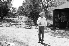Grandpa (DanJBailey) Tags: canonfd28mmf28 canonfd 28mm 35mmfilm oldtimer mono portrait monochrome bw bandw blackandwhite trix400 kodaktrix kodak 35mm film ae1program ae1 canonae1program canon 575 nm newmexico southwest usa america american beer cowboy man