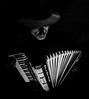 Music is my soul (Lensjoy) Tags: lensjoy musician strobist weltmeister wideangleportrait accordionist blackandwhite