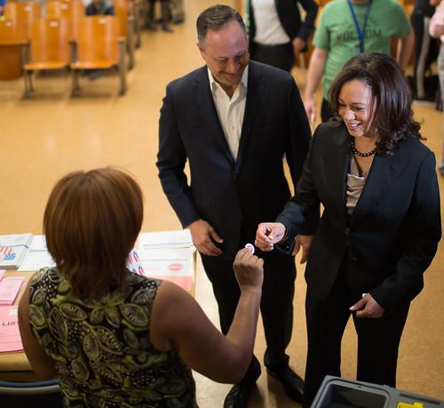 Senator-elect Harris on Election Day