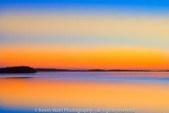 sunset lake (light shift) Tags: sunset sunsetlake llb laclabiche lake night orange blue bands banding calm brilliant sky water