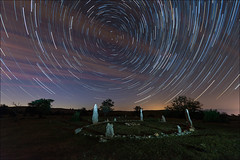 Cromlech (Jose Cantorna) Tags: cromlech circumpolar cielo startrail noche nikon d610 night star nocturna