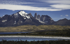 Into The Teeth (courtney_meier) Tags: chile lagosarmiento landscape nationalpark patagonia patagonianandes southernandes torresdelpaine clouds lake mountains thrombolites water