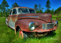 Rusty Nash (Tom Mortenson) Tags: bayfieldcounty wisconsin washburn northwoods northernwisconsin usa midwest nash rusty northamerica automobile junker oldcar america canon canon6d hdr photomatix tonemapping washburnwisconsin summer geotagged rustyvehicle 1740l nashsuper 1946nashsuper