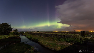 Moonlit Aurora Borealis.