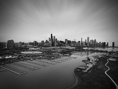 City of Chicago (Sathish-SKR) Tags: chicago city atchitecture skyline skyscraper blackandwhite blackwhite drone aerial aerialphotography dji phantom helicopter lake michigan sky