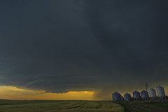 The farm and the storm (Len Langevin) Tags: storm weather thunder supercell alberta prairie sunset canada nikon d7100 tokina 1116