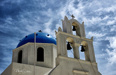 Bells (marko.erman) Tags: oia santorini cyclades thira island caldera volcano crater slope steep village white houses whitepainted sony wide angle perspective scenic beautiful travel popular greece sea water clouds orthodox bells