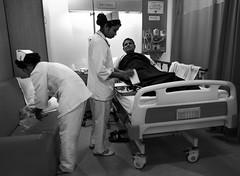 Treatment (Aranya Ehsan) Tags: people life lifestyle monochrome blackandwhite nurse sick ill medical treatment aranya dhaka bangladesh
