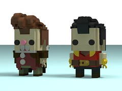 Gaston & Lefou (Front) (monkey5321) Tags: lego brickheadz beautyandthebeast disney gaston lefou