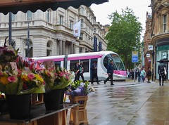 The Baguette Boys (metrogogo) Tags: applestore tram birmingham birminghamuk midlandmetro tramway thebaguetteboys flowerstall