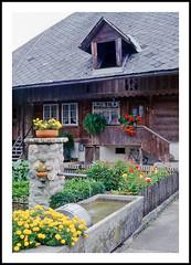 A Swiss Chalet - Eggiwil in the Emmental, 1994 (sjb4photos) Tags: switzerland emmental eggiwil suisse schweiz swisschalet epsonv500