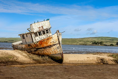 Drakes Bay Boat (LeeAnn2251) Tags: decay boat point reyes marooned rust beached aground drakes bay