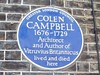 65 Colin Campbell (1676-1729) - Blue Plaque (robertknight16) Tags: campbell plaques architect london londonbrighton openplaques:id=343