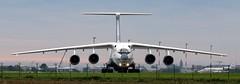 IL-76TD 90 head on at Ostend (kitmasterbloke) Tags: 4kaz100 silkway il76 ilyushin ostend ost airport cargo russian freighter aircrafttransportoutdoor
