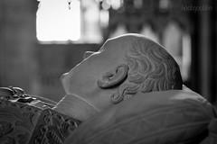 That's a Hard Pillow (hoobgoobliin) Tags: canterbury cathedral bw fujifilmxe2 xf56mm fujifilm tomb grave stone pillow bald robcharles hoobgoobliin