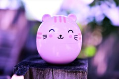 Hello Kitty (andreea_mihailiuc) Tags: kitty macro colors blurr depthoffield focus nikon d3200 40mmf28 40mm iso day light summer pink purple wood garden tree relaxing relax smile face background flickr explore andreeamihailiuc abstractmacro macromondays