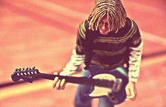 Nirvana (RK*Pictures) Tags: guitar fender lefthanded actionfigure toy live rockmusic love peace songwriter cool cult classic singer instrumentalist rockandrollhalloffame overdrive guitaramplifierfeedback drugs death bluejeans rkpictures actionfigurephotography toyphotography seattle music poet musician nirvana kurtcobain smellsliketeenspirit nevermind grunge seattlesound alternativerock kristnovoselic davegrohl neca fendermustang blue 27club suicide inutero bleach comeasyouare inbloom territorialpissings breed polly
