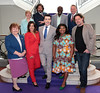 Angela & Eileen and The Adenugas from GoogleBox with Al Porter, Laurence Llewelyn Bowen, Neville Knott, Lucy Kennedy and Marco Pierre White pictured as TV3 unveiled its programming plans for Autumn 2017 at The National Concert Hall, Dublin. Pictures: Brian McEvoy