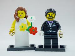 Brick Yourself Custom Lego Figure Happy Wedding Couple