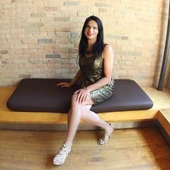 Gold dress (Hannah McKnight) Tags: tgirl transgender transgirl model crossdress crossdresser stilettos