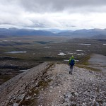 Descending from Sail Liath, with the Dundonnell Forest plateau down below thumbnail